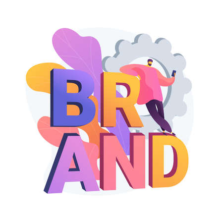 Brand name abstract concept vector illustration. Ilustración de vector