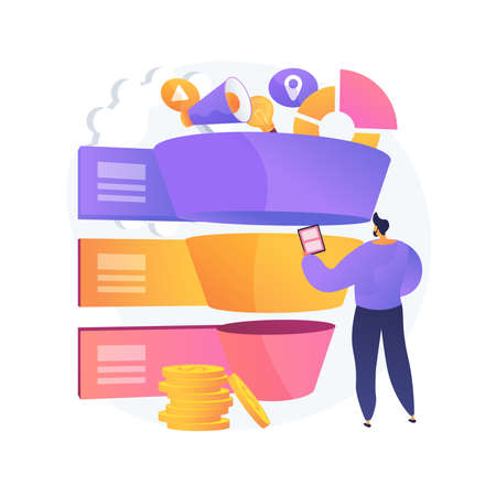 Sales pipeline management abstract concept vector illustration. Illustration