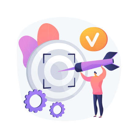 Focus abstract concept vector illustration.