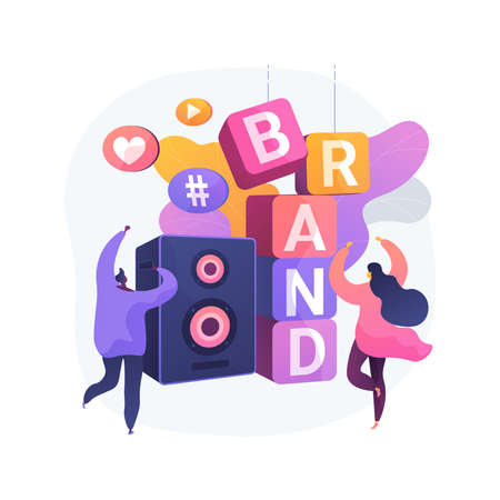 Brand event abstract concept vector illustration. Vecteurs