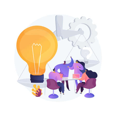 Brainstorming abstract concept vector illustration.