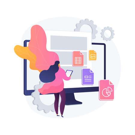 Document management soft abstract concept vector illustration. Illustration