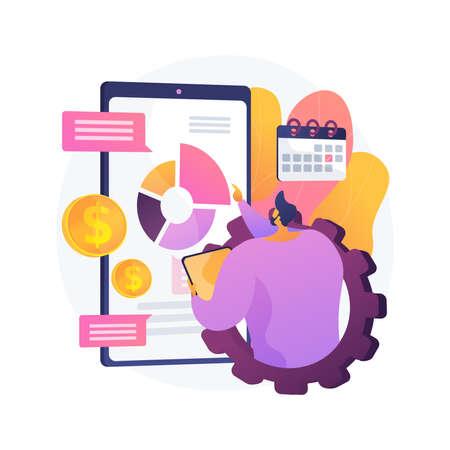 Mobile expense management abstract concept vector illustration. Vektorgrafik