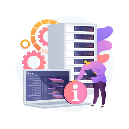 Management information system abstract concept vector illustration.