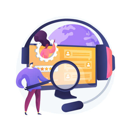 Customer self-service abstract concept vector illustration.