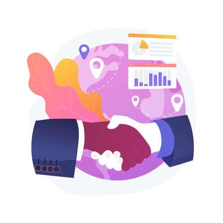 Chatbot customer service abstract concept vector illustration. Illustration
