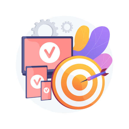 Multi-device targeting abstract concept vector illustration.