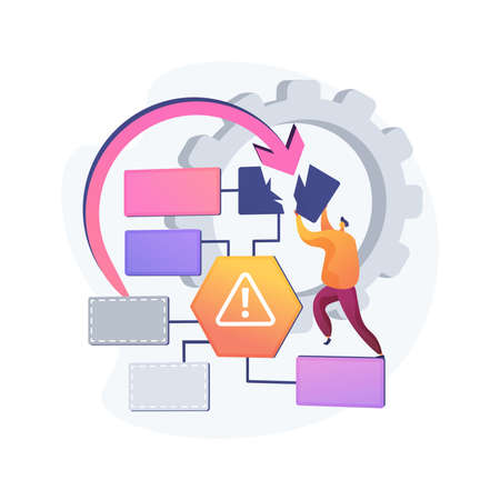 Business continuity and disaster recovery abstract concept vector illustration. Vettoriali