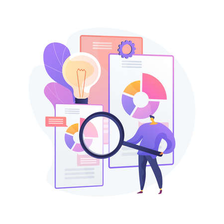 Competitive intelligence abstract concept vector illustration. Illustration