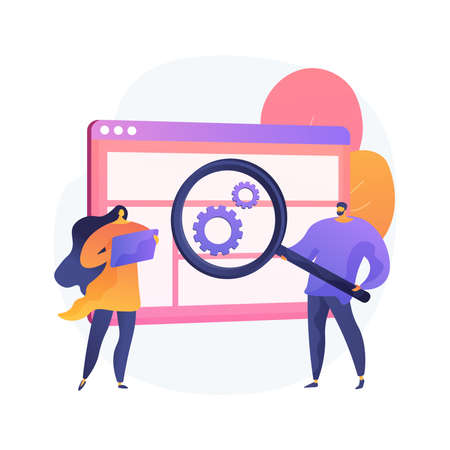 User research abstract concept vector illustration. Illustration