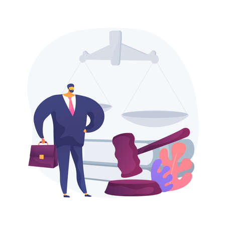 Litigation support abstract concept vector illustration.