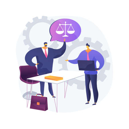 Paralegal services abstract concept vector illustration.