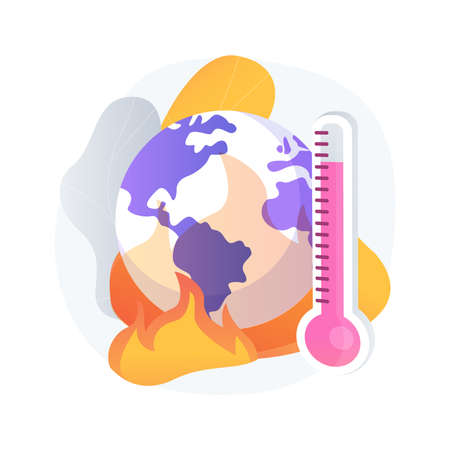 Global warming abstract concept vector illustration.