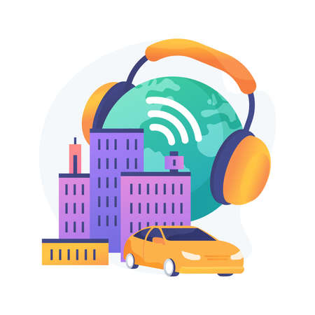 Noise pollution abstract concept vector illustration.
