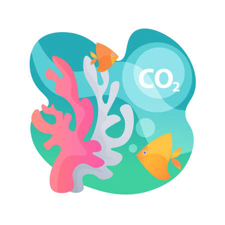 Ocean acidification abstract concept vector illustration.
