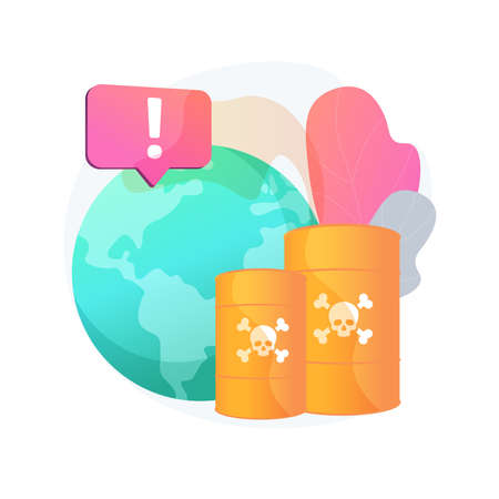 Chemical pollution abstract concept vector illustration.