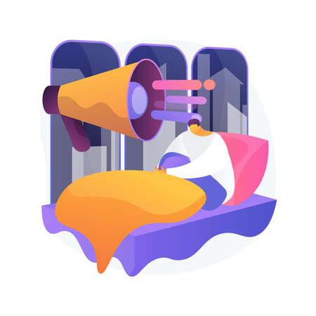 Sleep disturbances abstract concept vector illustration. Vektoros illusztráció