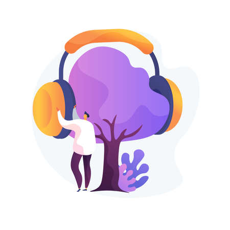 Noise protection abstract concept vector illustration.