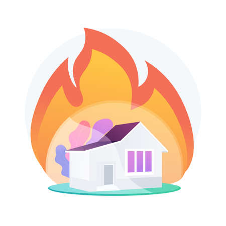 Fire insurance abstract concept vector illustration.