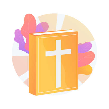 Holy bible abstract concept vector illustration.  イラスト・ベクター素材