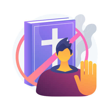 Atheistic worldview abstract concept vector illustration.