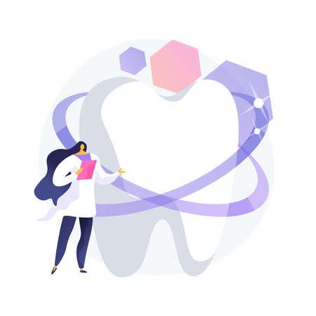 Dental esthetic clinic abstract concept vector illustration.
