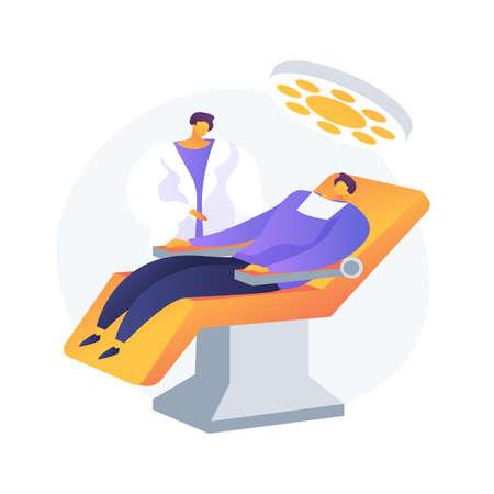 Dental treatment abstract concept vector illustration.