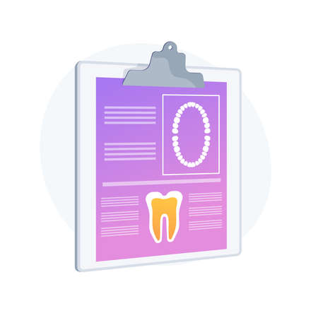 Dental patient card abstract concept vector illustration.