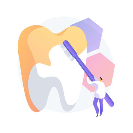 Cosmetic dentistry abstract concept vector illustration.