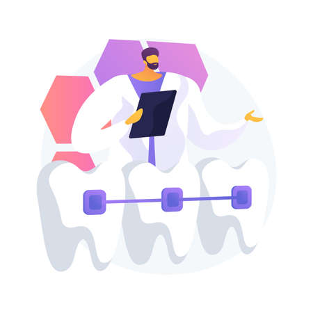Orthodontic services abstract concept vector illustration.