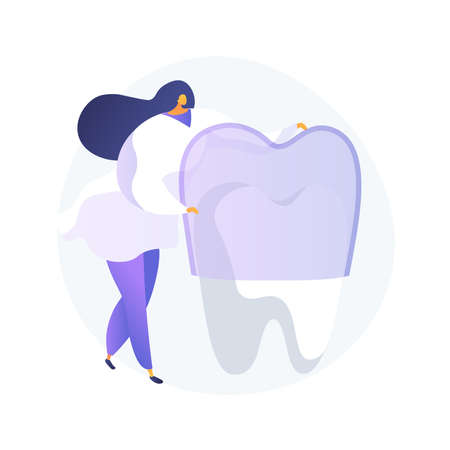 Teeth wear silicone trainer abstract concept vector illustration.