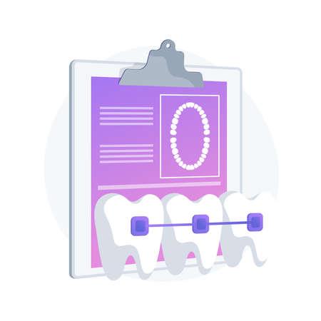 Dental braces abstract concept vector illustration. Vettoriali