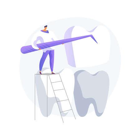 Dental veneers abstract concept vector illustration. Vettoriali
