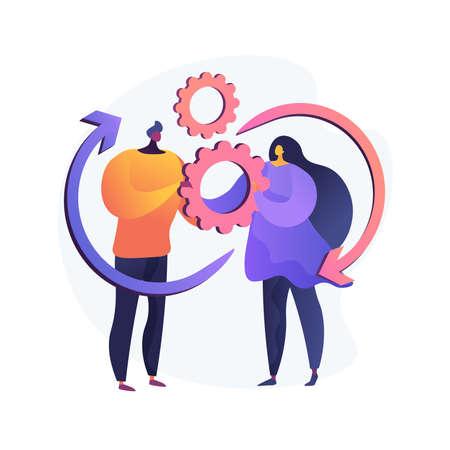 Social Interaction Skills abstract concept vector illustration.