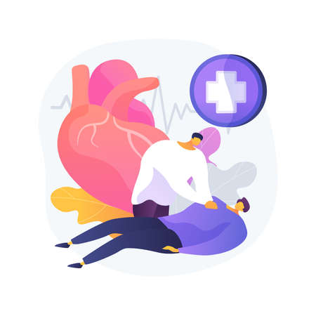 CPR abstract concept vector illustration.