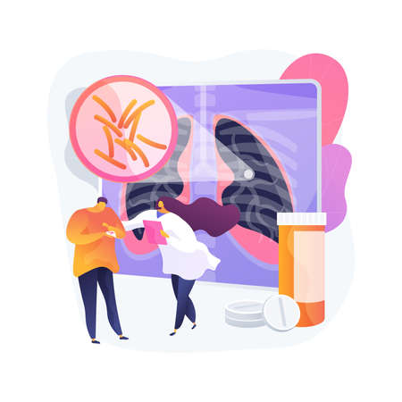 Tuberculosis abstract concept vector illustration.