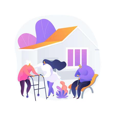 Nursing home abstract concept vector illustration. Vektoros illusztráció