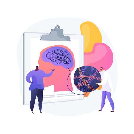 Psychotherapy abstract concept vector illustration. Ilustración de vector