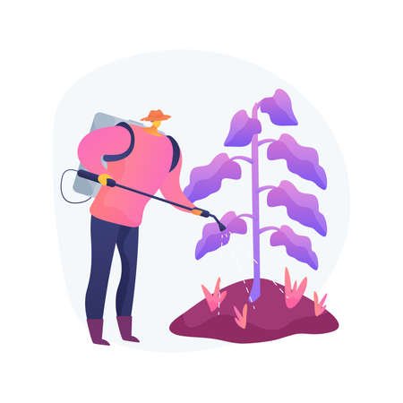 Weed control abstract concept vector illustration.