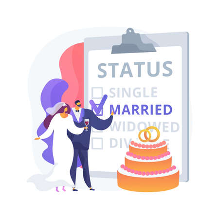 Marital status abstract concept vector illustration. Vektoros illusztráció