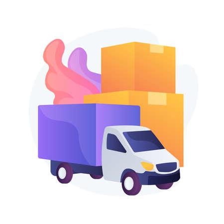 Regional transport abstract concept vector illustration. Ilustração