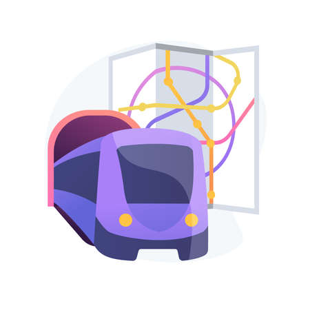 Underground transport abstract concept vector illustration.