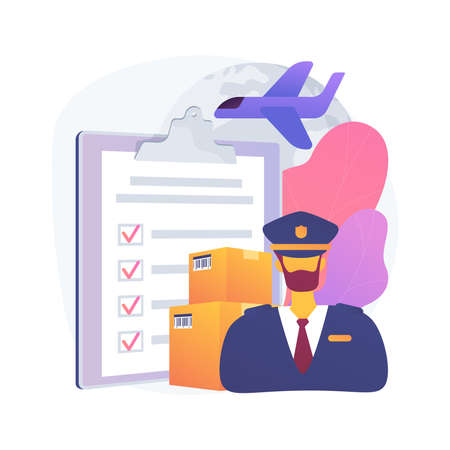 Customs clearance abstract concept vector illustration.