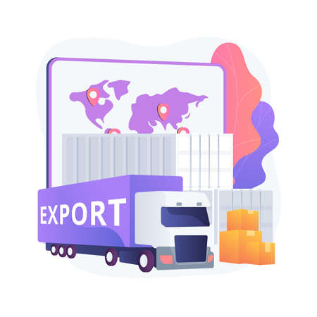 Export control abstract concept vector illustration.