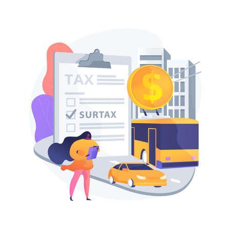 Transportation surtax abstract concept vector illustration.
