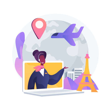 Travel agent abstract concept vector illustration.