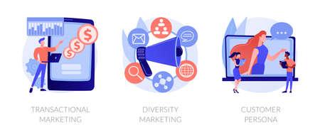 Marketing strategies abstract concept vector illustrations. Ilustração