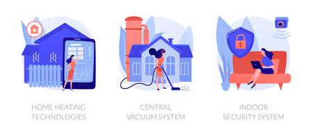 Home technologies abstract concept vector illustrations. Ilustração