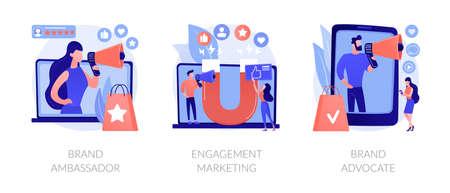 Internet marketing abstract concept vector illustrations.