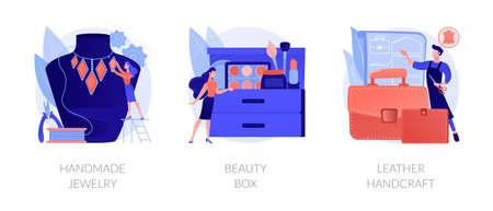 Handmade startup abstract concept vector illustrations. Vettoriali